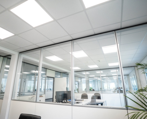 glastrennwände großraumbüro
