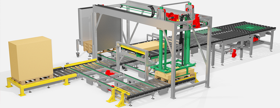 roller conveyor with feeding station