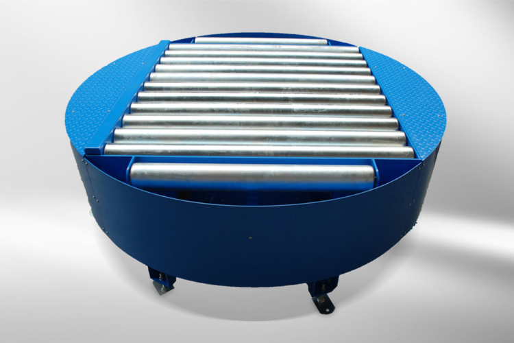 revolving stage blue with rollers
