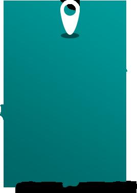 landkarte polen türkis