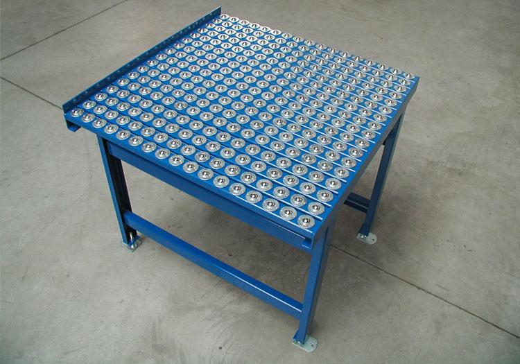 kugelrollentisch blau