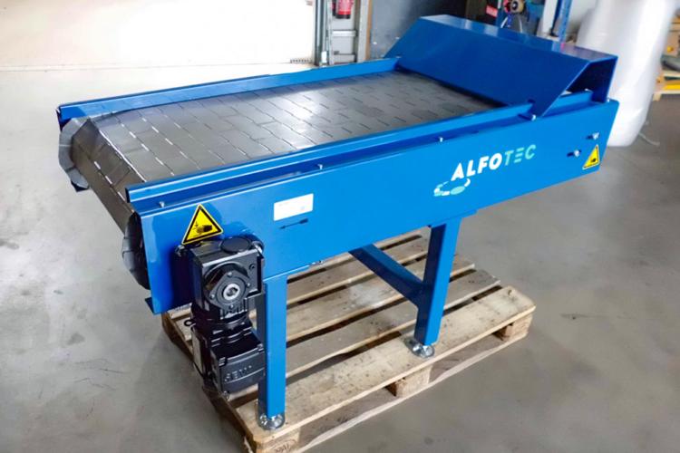 slat conveyors blue