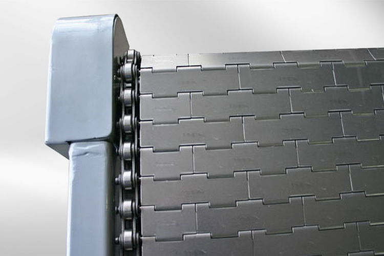 nahaufnahme förderband plattenbandförderer