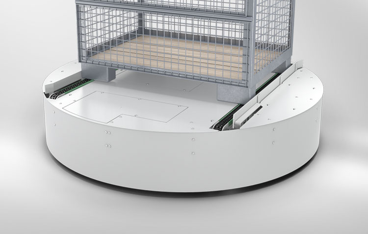 revolving stage with lattice box