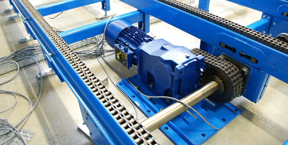 conveyor system blue