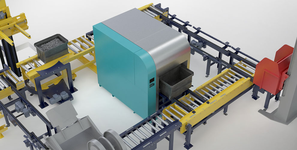 conveyor system for the metal industry and processing