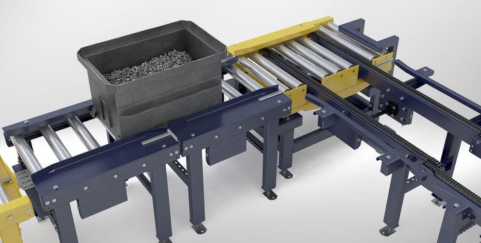 Ejector chain conveyor Roller conveyor