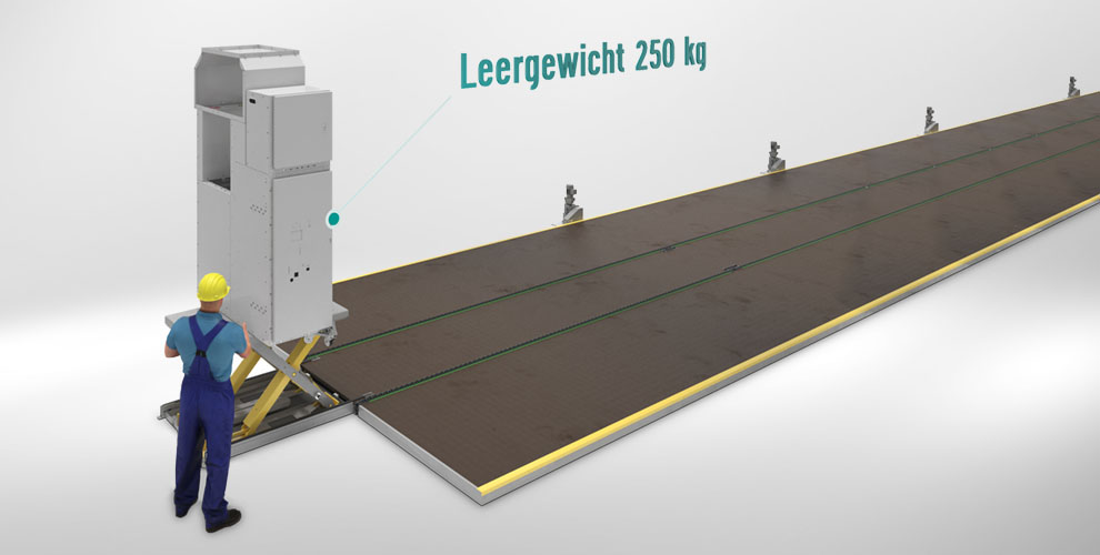 conveyor system for switch cabinet