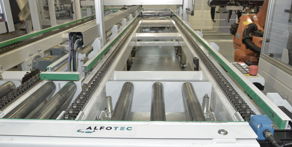 production line with several buffer zones