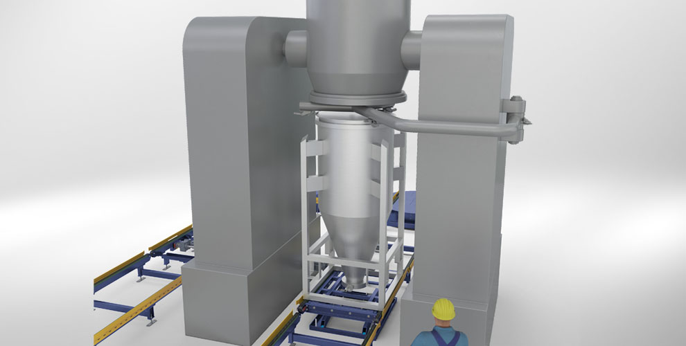 conveyor system with integrated mixing process for the food and beverage industry