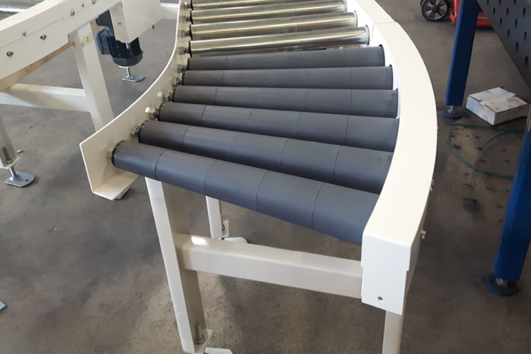 roller on conveyor system