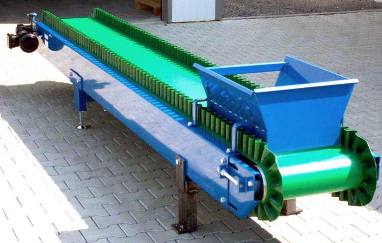 Belt conveyor shaft edge