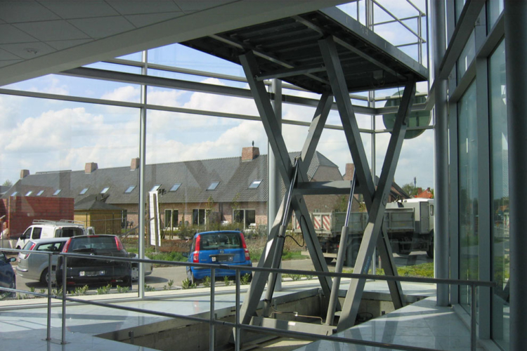 car lift table from below