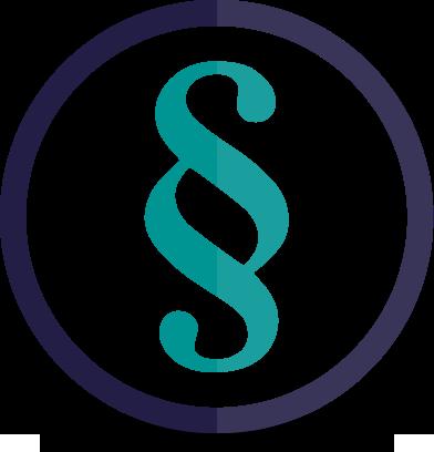 paragraphenzeichen blau türkis