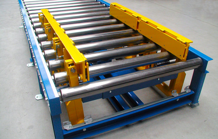 Roller conveyor Centring unit