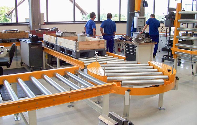 rollenbahnen orange antriebstechnik