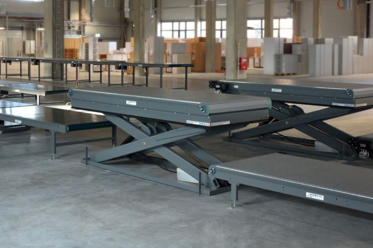 single scissors lift tables