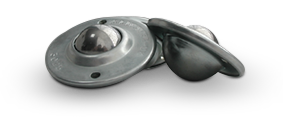 Flange ball rollers