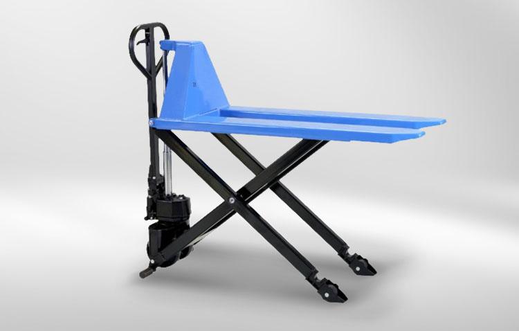 gabelhubwagen blau