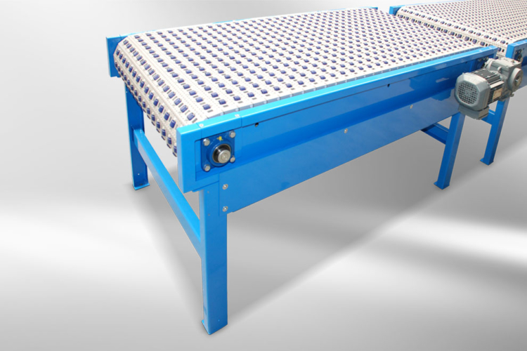 apron conveyor blue