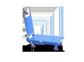 mobiler hubtisch blau
