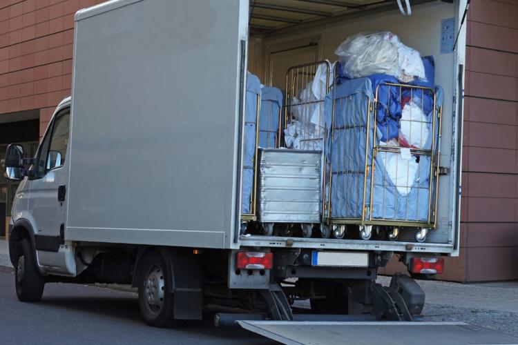 truck with laundry van