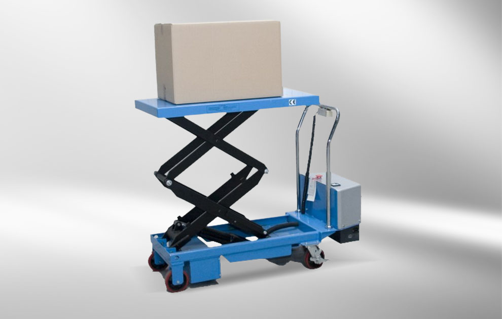 lift table conveys package