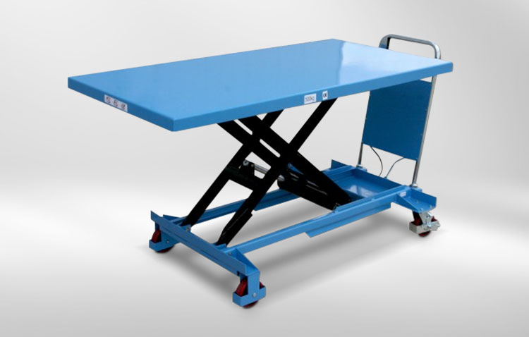 lifting table blue